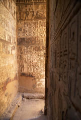 Sacred place in Medinet Habu ancient temple, Egypt, Luxor