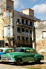 Garden Poster Cars from Cuba Cuban Classic Car