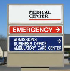 Medical Center Sign