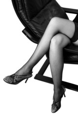 Jambes sexy et bas noirs
