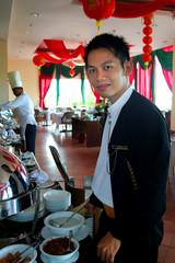 restaurant staff at work