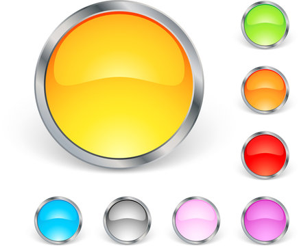 Lot d'icones ronds colorés