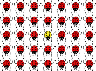 Printed kitchen splashbacks Ladybugs lost ladybug