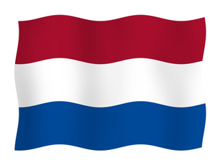 Flag of the Netherlands  Wall mural