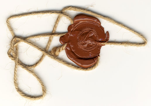 Wax seal with rope