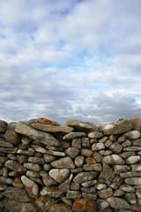 Mur de pierre séche en bretagne