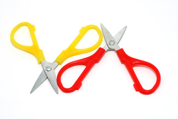 Red and yellow scissors