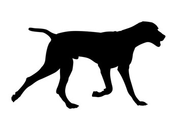 galloping dog silhouette