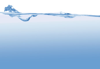Abstract blue wave, fantastic background, running water,
