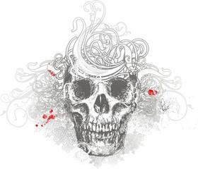 Wicked skull illustration