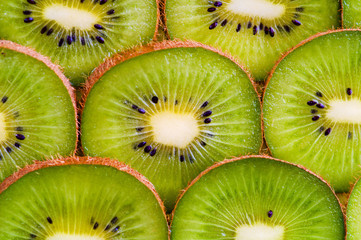 kiwi slices flower