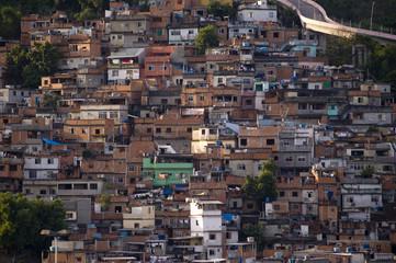 Slum at Rio de Janeiro, near Maracan‹ Stadium