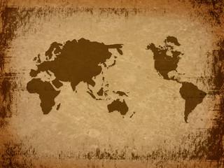 world map-vintage artwork