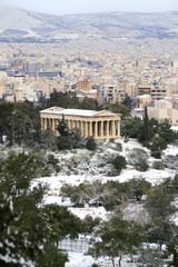 Athens, Greece - winter urban view