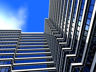 Fotobehang Aan het plafond skyscraper