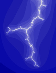 Lightning. Abstract background generated from a fractal pattern.