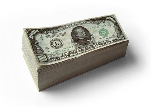Stack of $1000 Dollar Bills