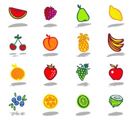 color icons - fruits