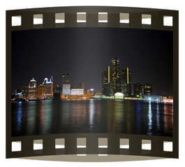Photo slide of Detroit downtown