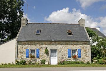 bei Combrit, bretonisches Haus, Bretagne