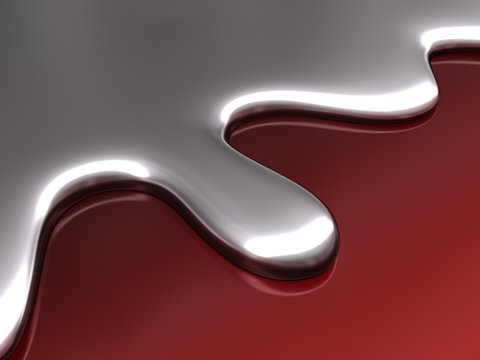 Abstract liquid in form and color of mercury chrome.