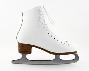 Elegant white figure skate for training and leisure.
