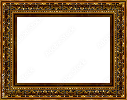 The old gold wooden frame XXL\