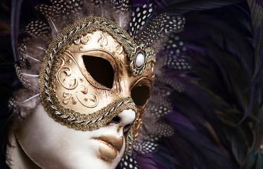 Wall Mural - antique venezian female mask