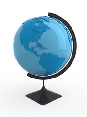 Terrestrial globe.