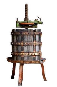 Old and rusty wine press