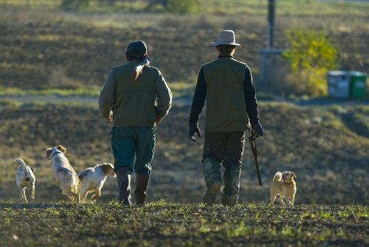 Chasseurs et chiens