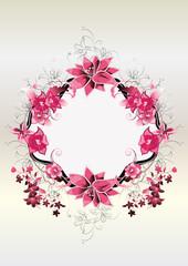 Blumenschild Abstrakt