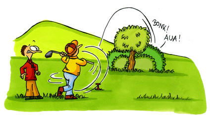 Golf Cartoons Serie Bild 2
