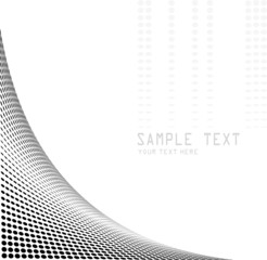 black halftone background - vector