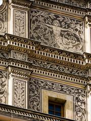 Détail d'une façade, Prague