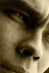Thinking glance