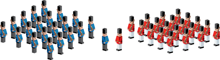 Toy soldiers illustration