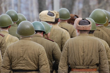 Red Army. WWII reenacting