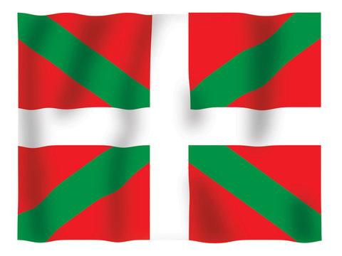 Fluttering image of the Basque flag.