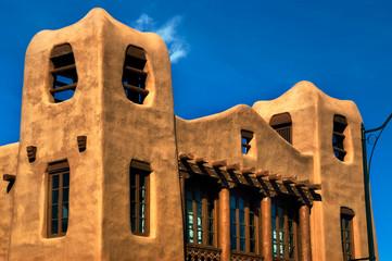 Modern Pueblo style arhitecture house
