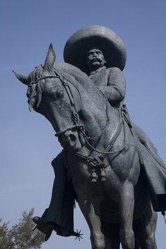 Huge statue Emiliano Zapata revolutionary hero Toluca Mexico