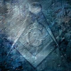 Grunge background with freemason symbol