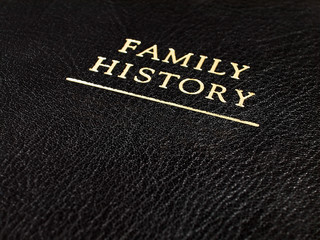 Family History Embossed Book Cover