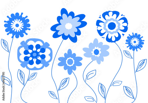 Fiori stilizzati blu immagini e fotografie royalty free for Fiori stilizzati immagini