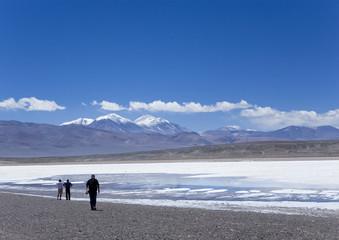 Salar dans les Andes