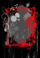 Grunge red frame