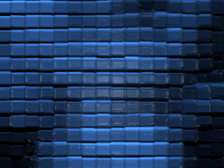 Abstract glass pattern (blue)