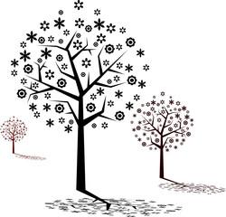 Tree vectors illustration