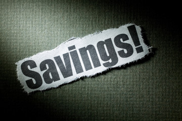 concept of Savings