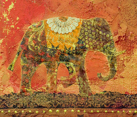 Elefant Collage